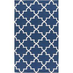 York AWHD-1024 Blue/White Modern Premium Wool Rug