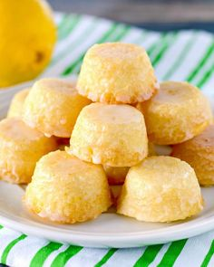 These mini Lemon Drops are a perfect treat for lemon fans. Tiny lemon cakes are drenched in a mouthwatering lemon glaze making them delicious and addicting.