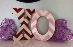 Decorative Wood Chevron Letters 49% off at Groopdealz