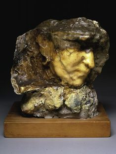 Medardo Rosso Carne altrui 1883 wax over plaster with pigment 9 1/4 x 8 3/4 x 6 3/4 inches (23.5 x 22.9 x 16 cm)