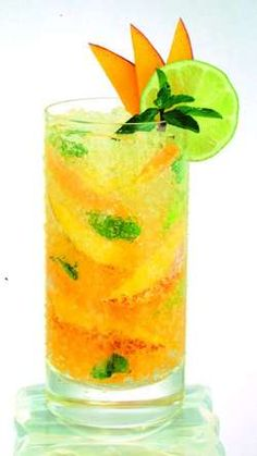 Mango Mojito:  1 1/2 oz. Herradura Silver Tequila   3 sprig(s) Mint   2 tsp. Sugar   1 tbsp. Lime Juice   2 1/2 oz. Mango Juice   1 splash(es) Club Soda