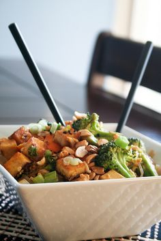 Spicy Peanut Tofu Pad Thai | by Sonia! The Healthy Foodie