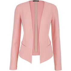 maurices Blazer With Textured Fabric In Pink Clay ($44) ❤ liked on Polyvore featuring outerwear, jackets, blazers, pink clay, red blazer, textured blazer, pink jacket, red jacket and long red jacket