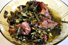 Not exactly diet food, but yikes, who I wouldn't knock over for some smoked neckbones and collard greens.