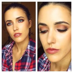 'Kylie Jenner Inspired' Idea Gallery look using Makeup Geek's Cocoa Bear, Creme Brûlée and Peach Smoothie eyeshadows.