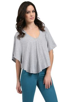 The Jersey Cape in Heather Gray by Bobi from MFredric.com