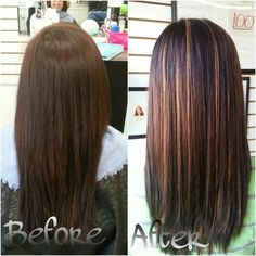 Dark Brown Hair With Red Highlights And Lowlights