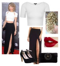 """Taylor Swift Slaying Look! (#60)"" by nellygirl110 on Polyvore featuring Charlotte Russe, Topshop, Judith Leiber, women's clothing, women, female, woman, misses and juniors"
