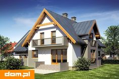 DOM.PL™ - Projekt domu Mój Dom Leopold CE - DOM BM2-44 - gotowy koszt budowy Virginia, Home Fashion, Cabin, Mansions, House Styles, Home Decor, Pictures, Decoration Home, Manor Houses