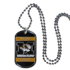 """Checkout our #LicensedGear products FREE SHIPPING + 10% OFF Coupon Code """"Official"""" Missouri Tigers Tag Necklace - Officially licensed College product 26 inch ball chain High polish finish Perfect game day accessory Missouri Tigers tag with enameled colors - Price: $16.00. Buy now at https://officiallylicensedgear.com/missouri-tigers-tag-necklace-ctn67"""