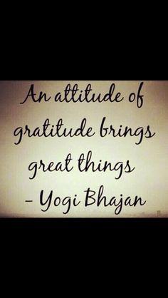 Gratitude attitude!!