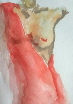 Watercolor Female naked