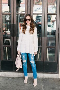 Casual California Winter Outfit | M Loves M Winter Outfits 2019, Winter Outfits For Work, Winter Outfits Women, Casual Winter Outfits, California Winter, California Fashion, Casual School Outfits, Winter Skirt Outfit, Clothes 2019