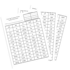 {FREEBIE} Dolch Check off list with student lists