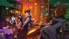 Digital Art Fantasy, Image Painting, Fox Art, Antique Shops, Fantasy Characters, Deviantart, Antiques, Illustration, Artwork