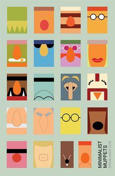 minimalist muppets...i love kermit #obvi