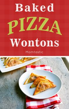 Delicious and easy baked pizza wontons recipe