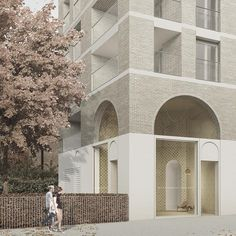 By Unit Architects (comment for credit) Brick Architecture, Architecture Collage, Architecture Graphics, Architecture Visualization, Architecture Student, Architecture Drawings, Insulated Garden Room, Image 3d, Brick Facade