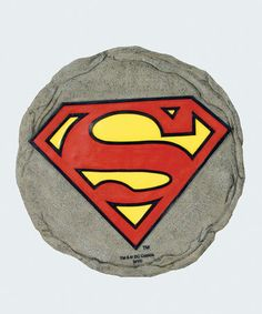 This Superman Logo Stepping Stone is perfect! #zulilyfinds