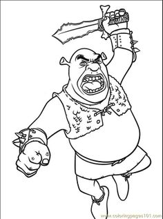 shrek coloring pages free printable coloring page shrek 3 038 9 cartoons