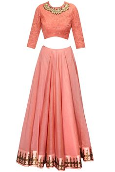 Blush pink printed lehenga set available only at Pernia's Pop-Up Shop