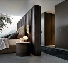 May 2019 - Perfect bedroom space planning. Elegant Bedroom Design, Luxury Bedroom Design, Luxury Home Decor, Modern Interior Design, Modern Elegant Bedroom, Trendy Bedroom, Modern Master Bedroom, Master Bedroom Design, Contemporary Bedroom