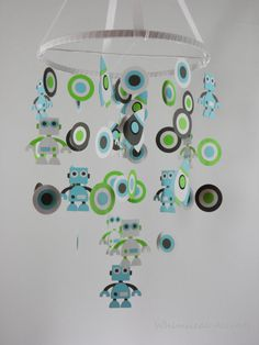 Robots Rocket Ships and Circles Baby Paper by whimsicalaccents, $95.00
