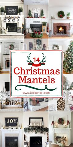 Mantel Decorations for Christmas That'll Bring Your Fireplace to Life Decorate your home for Christmas with the best DIY Christmas mantel ideas! Diy Christmas Mantel, Merry Christmas, Christmas Gift Tags, Simple Christmas, Christmas Home, Christmas Decorations, Christmas Trees, Christmas Villages, Victorian Christmas