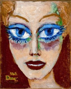Kees van Dongen, 'Lady with Blue Eyes' (1908) || Dutch Fauvist (1877-1968)