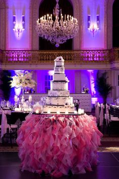 Draw even more attention to your cake with an eye-catching table
