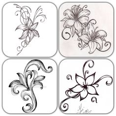 Simple Designs To Draw On Paper Simple flower drawing cutting