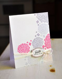 Just A Note Hydrangea Card by Maile Belles for Papertrey Ink (May 2012)