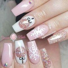 Christmas Gel Nails, Xmas Nail Art, Holiday Nail Art, Christmas Nail Art Designs, Christmas Design, Christmas Makeup, Nail Designs For Winter, Easy Christmas Nail Art, Thanksgiving Nail Art