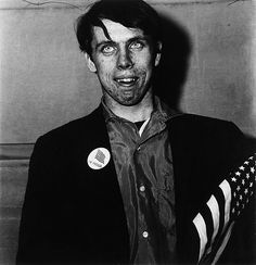 Diane Arbus: Patriotic young man with a flag, N.Y.C. 1967 #photography #photographers #surreal