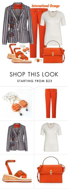 """Maliparmi Blazer Look"" by romaboots-1 ❤ liked on Polyvore featuring Kazuri, Uniqlo, Malìparmi, Marc O'Polo, Isabel Marant, Henri Bendel and From St Xavier"