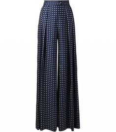 The Layering Tricks ALL Fashion Girls Know via @WhoWhatWear wide leg polka-dot trousers