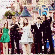 The cast of Narnia at Disneyland!!! Will looks so confused!!!