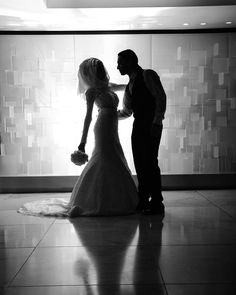 Say no more: as bride and groom weight in the lobby of their hotel.
