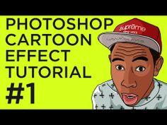▶ Photoshop Cartoon Effect Tutorial #1 - YouTube  Maybe yr 8 mini project