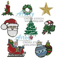 Christmas Motifs 3 Cross Stitch Pattern http://www.artecyshop.com/index.php?main_page=product_info&cPath=41_42&products_id=763
