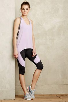 Cropped Colorblock Leggings - anthropologie.com #anthrofave