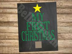Baby's First Christmas Chalkboard Poster by BellaDreamDesigns, $8.00