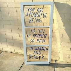 ignore the quote, but the written on window frame would be a cute and cheap decoration
