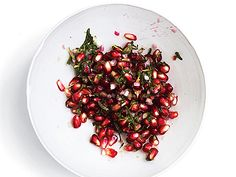 Pomegranate seeds sub in for cranberries in this bracing, colorful relish.