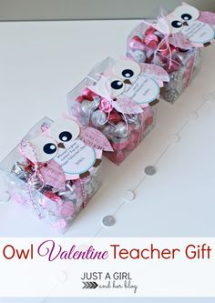 Such a cute and simple Valentine's Day gift for teachers! LOVE! | Just a Girl and Her Blog