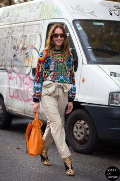Paris FW SS15 Street Style: Tiany Kiriloff - STYLE DU MONDE | Street Style Street Fashion Photos