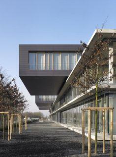 Rehabilitation center in Luxemburg. m3 architectes. EQUITONE facade material. www.equitone.com