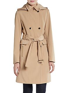 Double-Breasted Belted Trenchcoat
