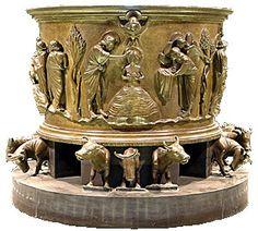 Fonts baptismaux du XIIe siècle Liège , Belgique