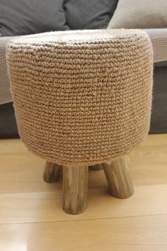 Rustic Jute Topped Stool - Two Sizes